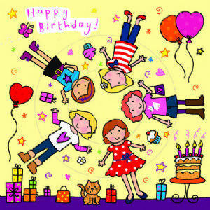 Children's Birthday Card Spinner - Girls